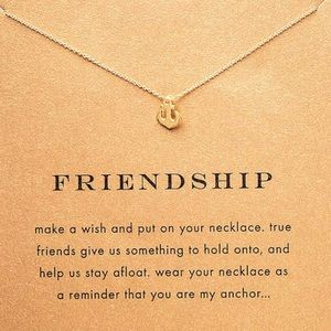 TWO 2 GOLD DIPPED ANCHOR FRIENDSHIP NECKLACE